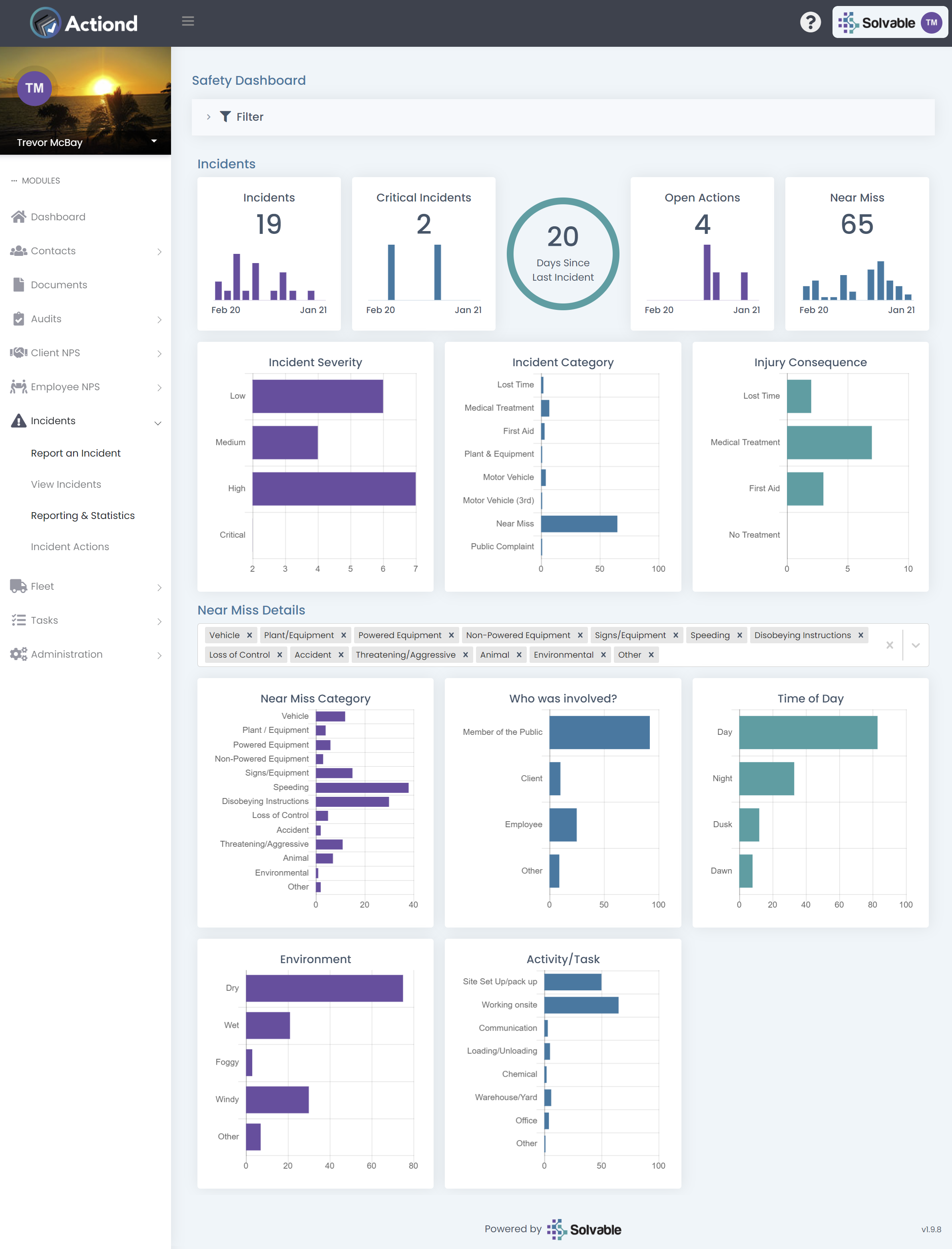 Actiond - Incident management and statistics